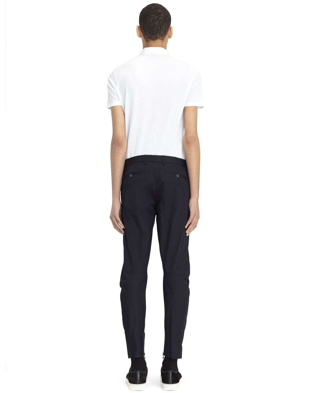 COTTON GABARDINE BIKER PANTS - Lanvin