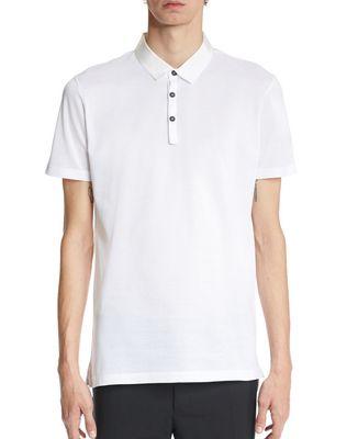LANVIN Polos & T-Shirts U SLIM-FIT PIQUÉ POLO SHIRT F