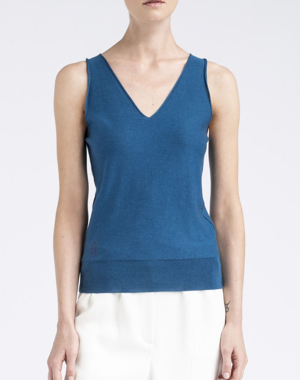 Lanvin ‎Sleeveless Top With Lanvin 125 Ans Logo ‎, ‎Top ...