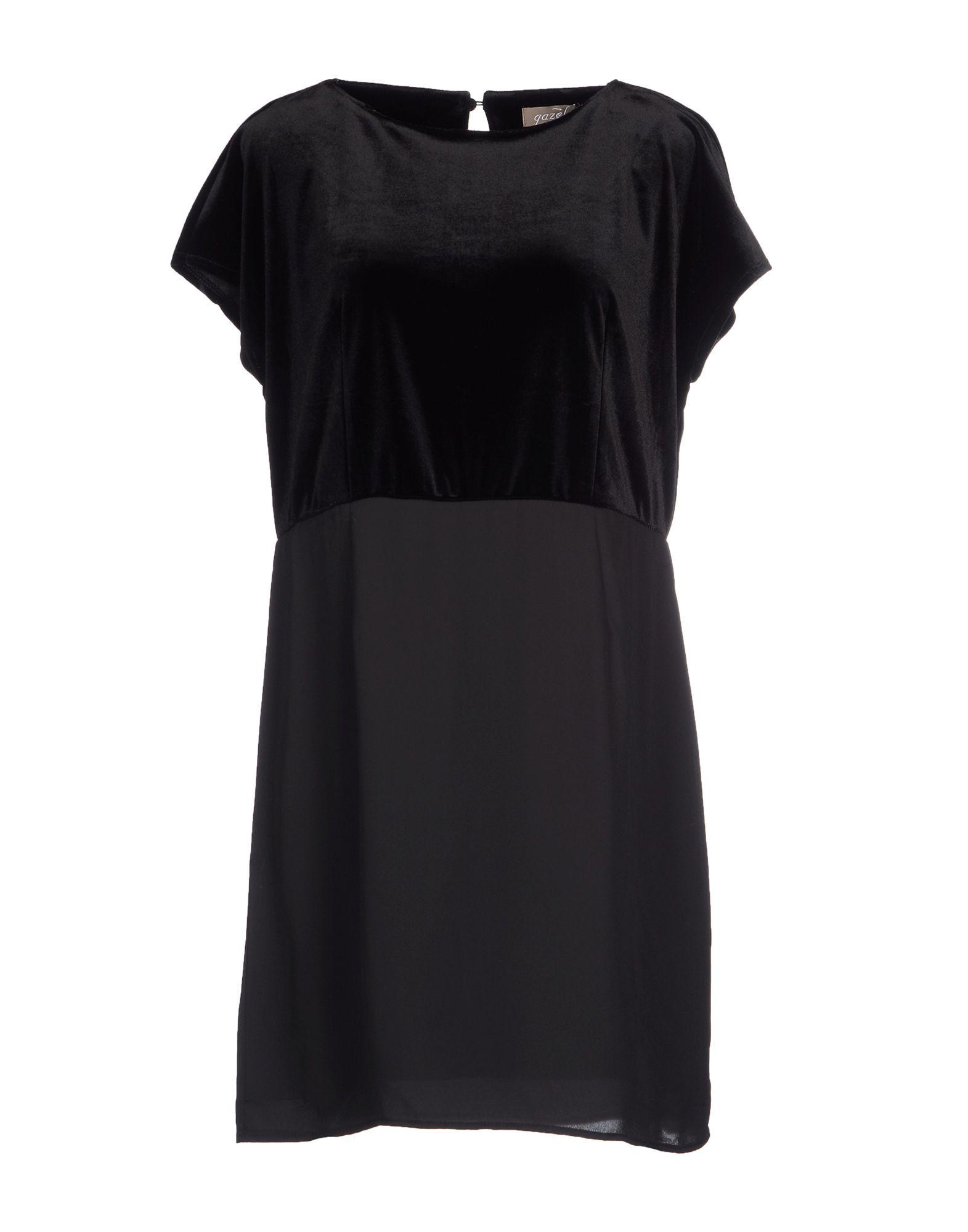 GAZEL Damen Kurzes Kleid Farbe Schwarz Größe 5