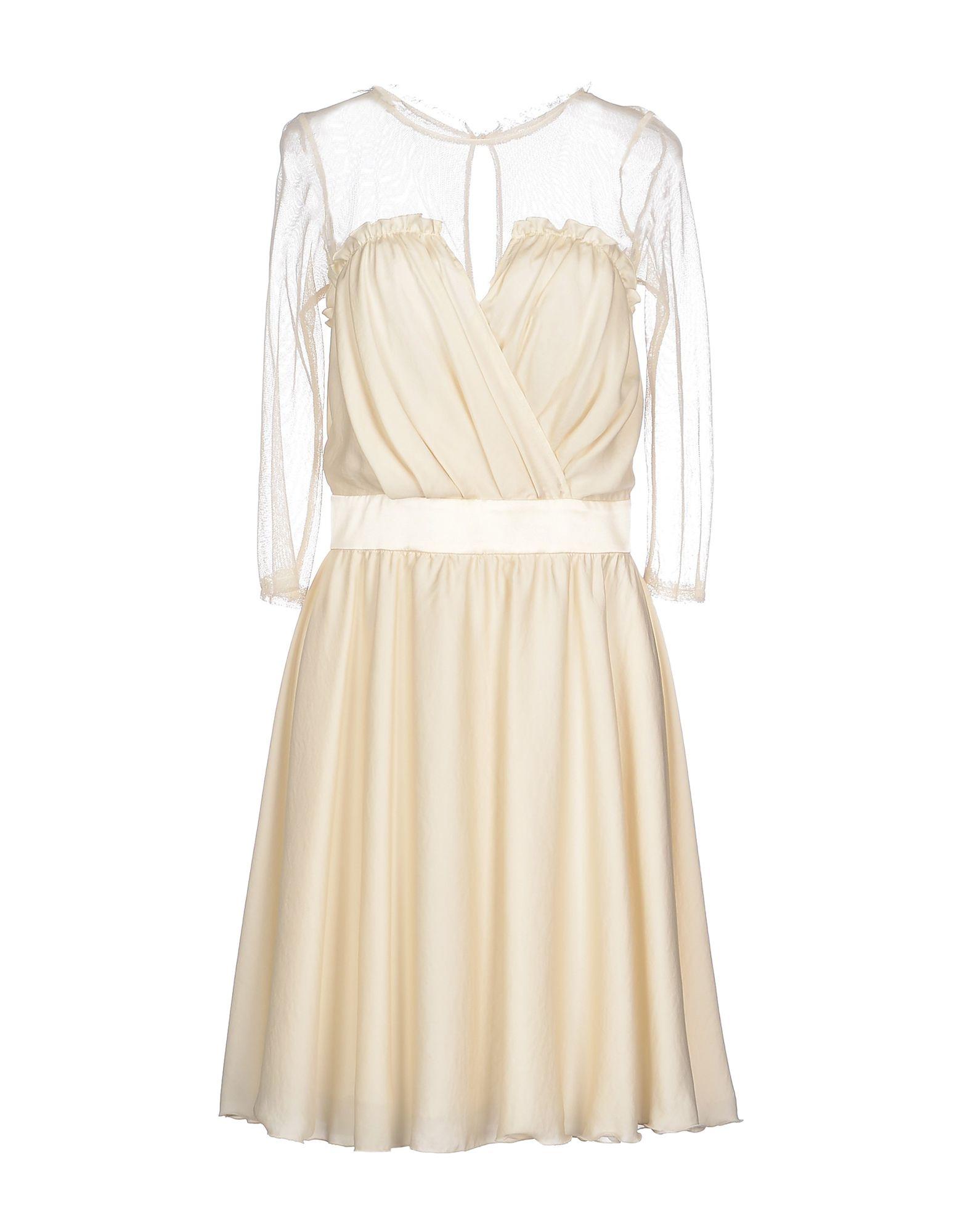 ELISABETTA FRANCHI Короткое платье elisabetta franchi платье с поясом цепочкой