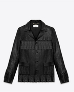 SAINT LAURENT Leather jacket D CLASSIC CURTIS FRINGE JACKET IN BLACK LEATHER f