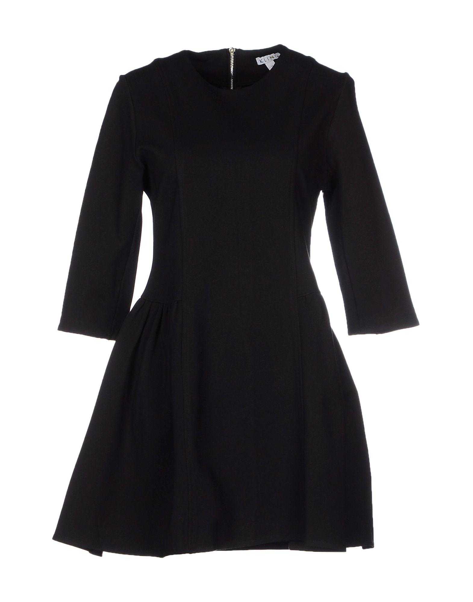 KLING Damen Kurzes Kleid Farbe Schwarz Größe 3