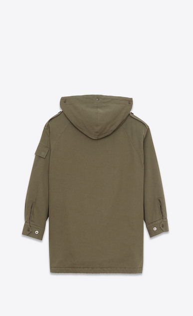 SAINT LAURENT Casual Jackets D Military Parka in Military Khaki Cotton Twill b_V4