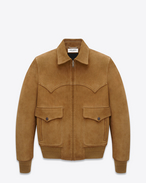 Western Flight Jacket in Whiskey Leather