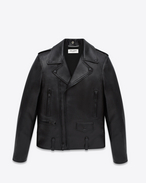 CLASSIC MOTORCYCLE JACKET IN BLACK LEATHER