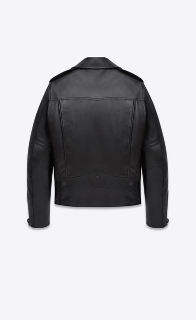 SAINT LAURENT Giacca di Pelle U CLASSIC MOTORCYCLE JACKET IN BLACK LEATHER b_V4
