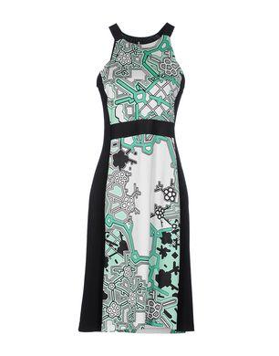 Hermsdorf Angebote 1-ONE Damen Knielanges Kleid Farbe Grün Größe 4