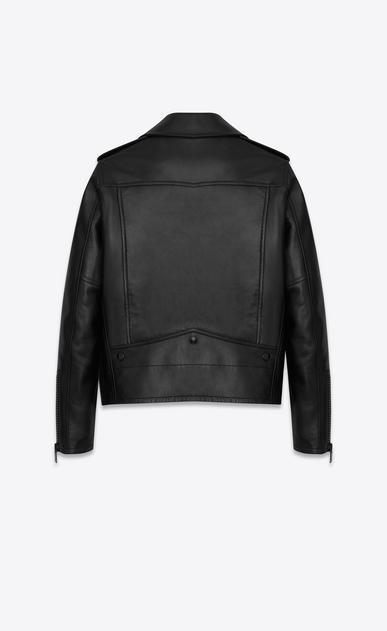 SAINT LAURENT Leather jacket D CLASSIC MOTORCYCLE JACKET IN BLACK LEATHER b_V4