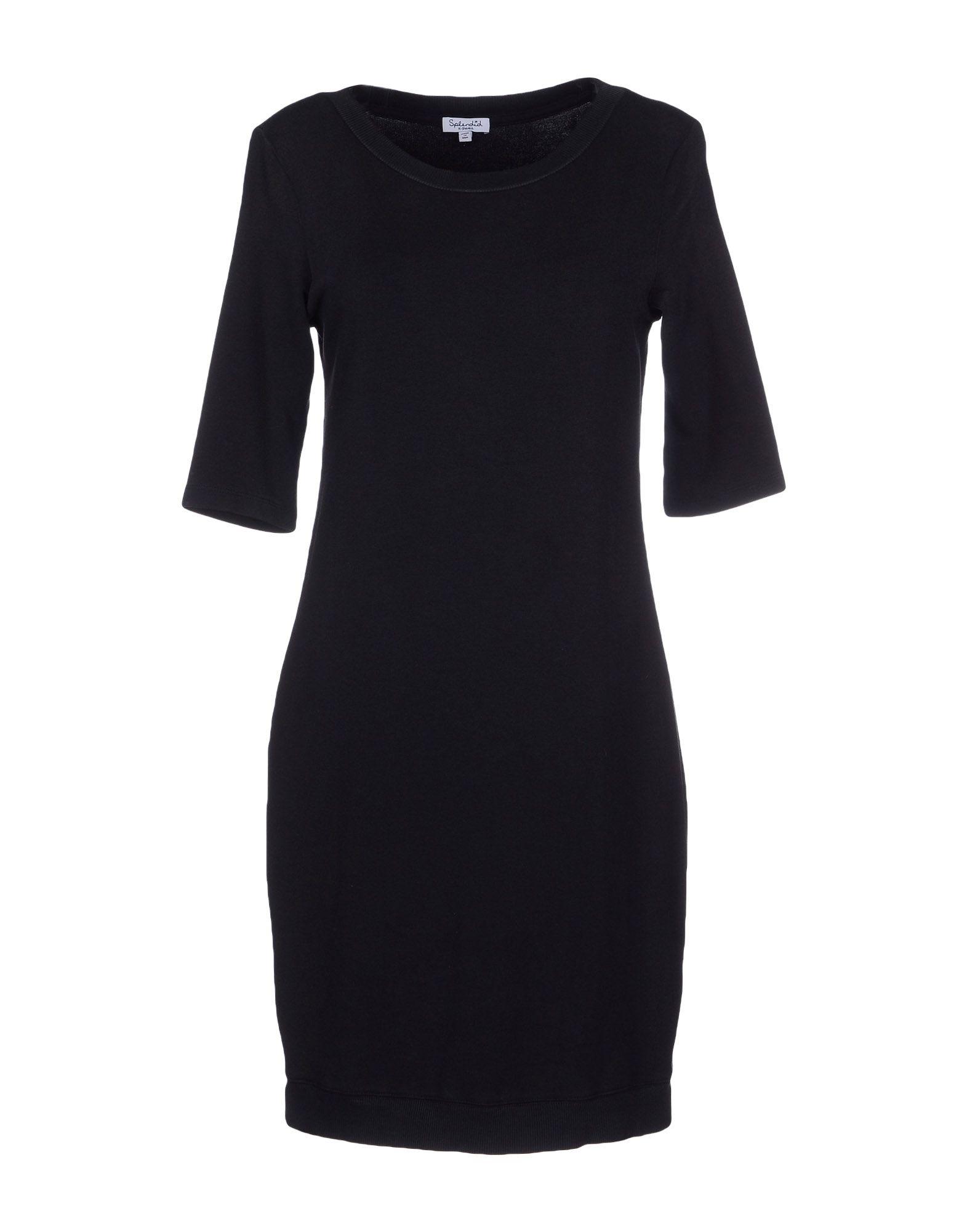 SPLENDID Damen Kurzes Kleid Farbe Schwarz Größe 3