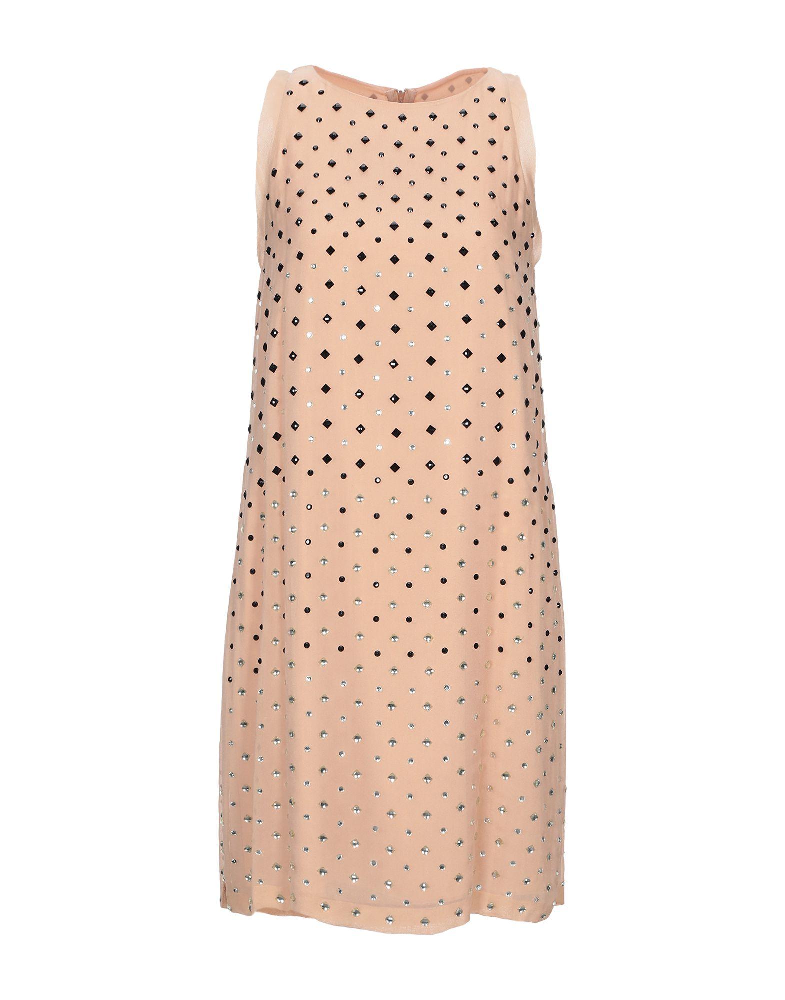 DIANE VON FURSTENBERG Короткое платье diane von furstenberg ярко розовое платье без рукавов