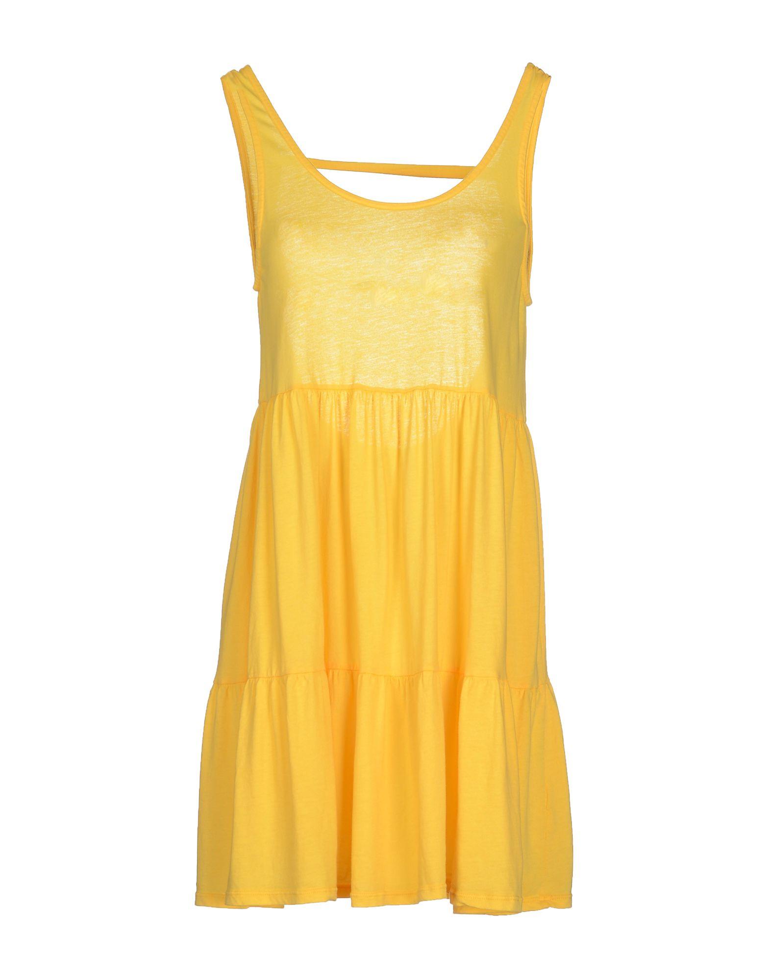 BOBI Damen Kurzes Kleid Farbe Gelb Größe 4