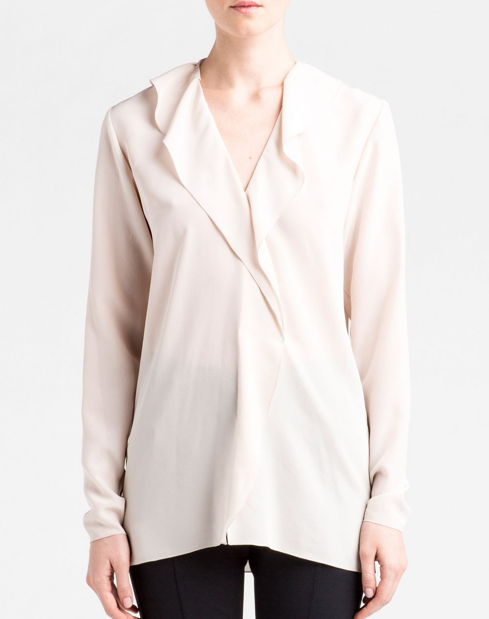 hot sales 88f10 e9810 Camicia In Raso Di Seta Lanvin, Top Donna   Lanvin Online Store