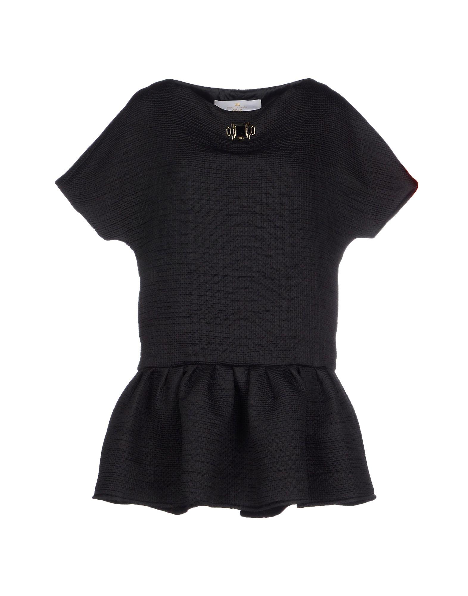 ELISABETTA FRANCHI GOLD Damen Kurzes Kleid Farbe Schwarz Größe 4