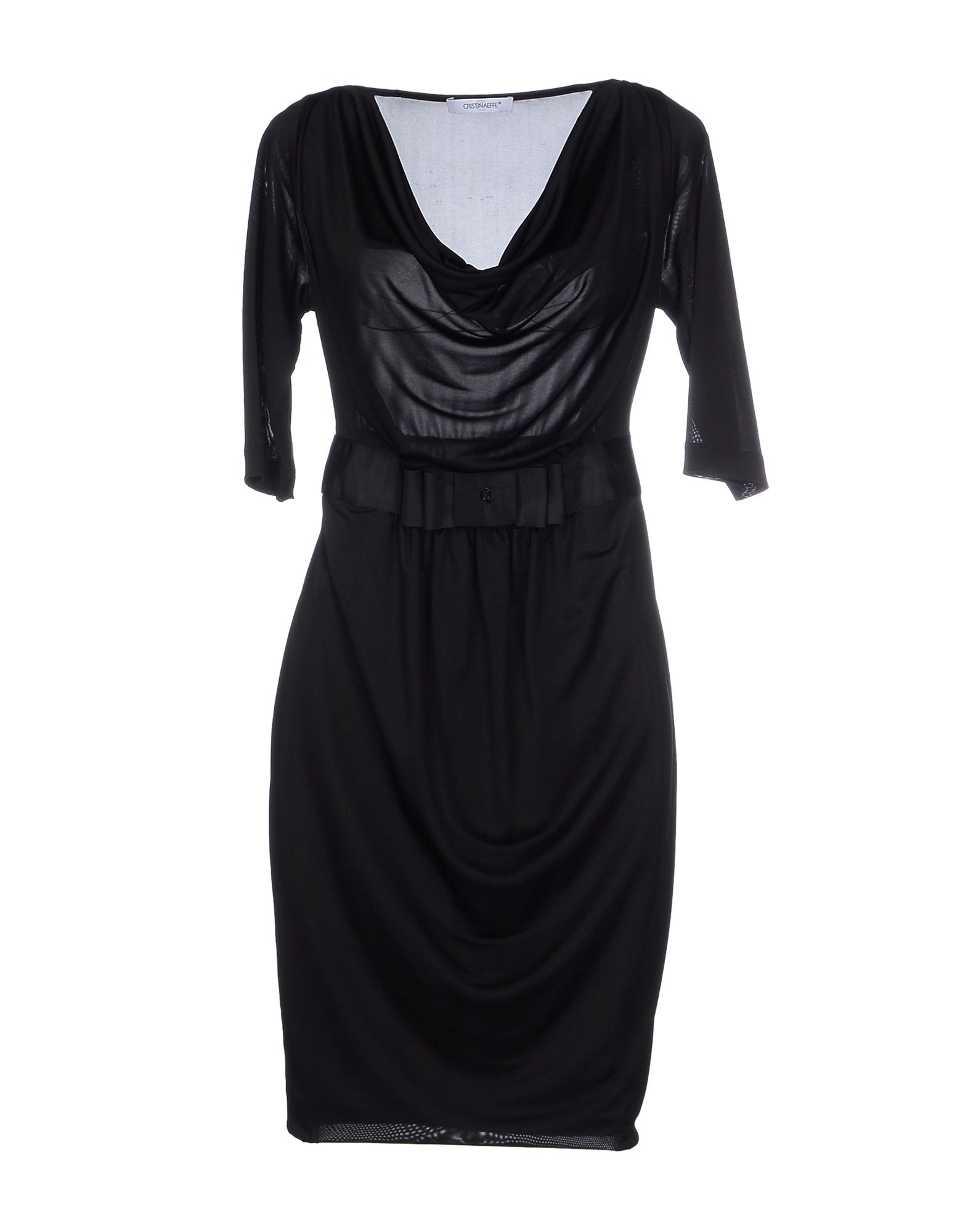 CRISTINAEFFE Damen Kurzes Kleid Farbe Schwarz Größe 2