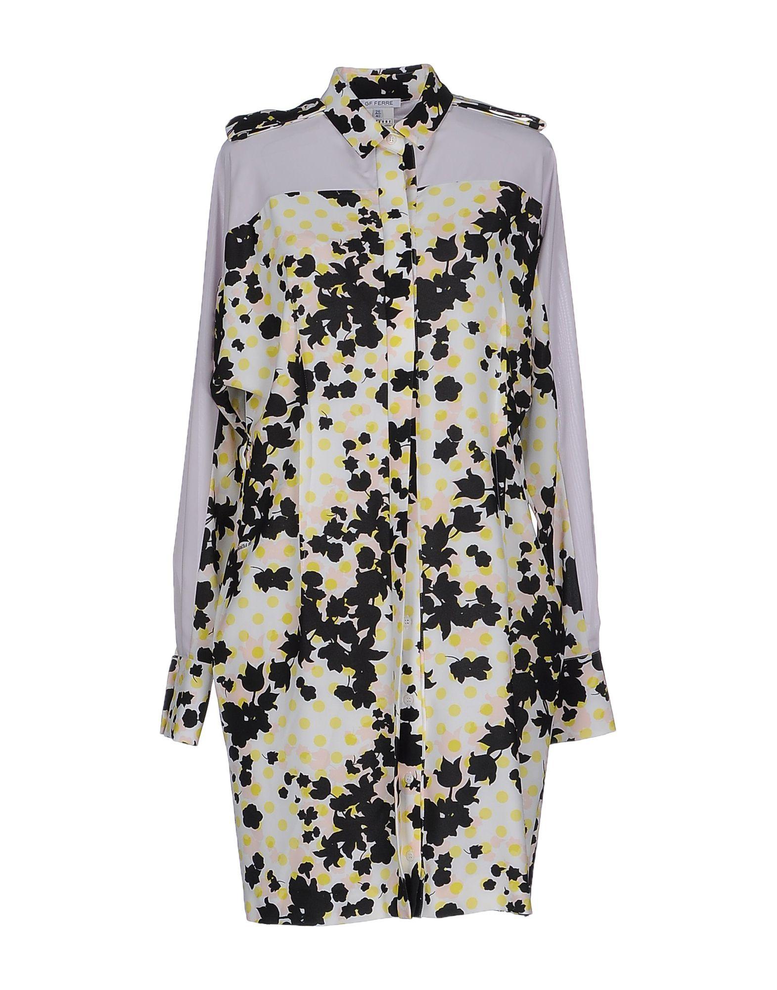 GF FERRE' Короткое платье приталенное платье с застежкой на пуговицы пояс gf ferre приталенное платье с застежкой на пуговицы пояс