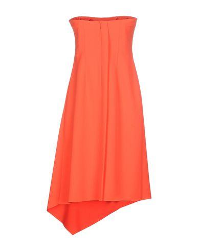 Фото 2 - Женское короткое платье CEDRIC CHARLIER оранжевого цвета