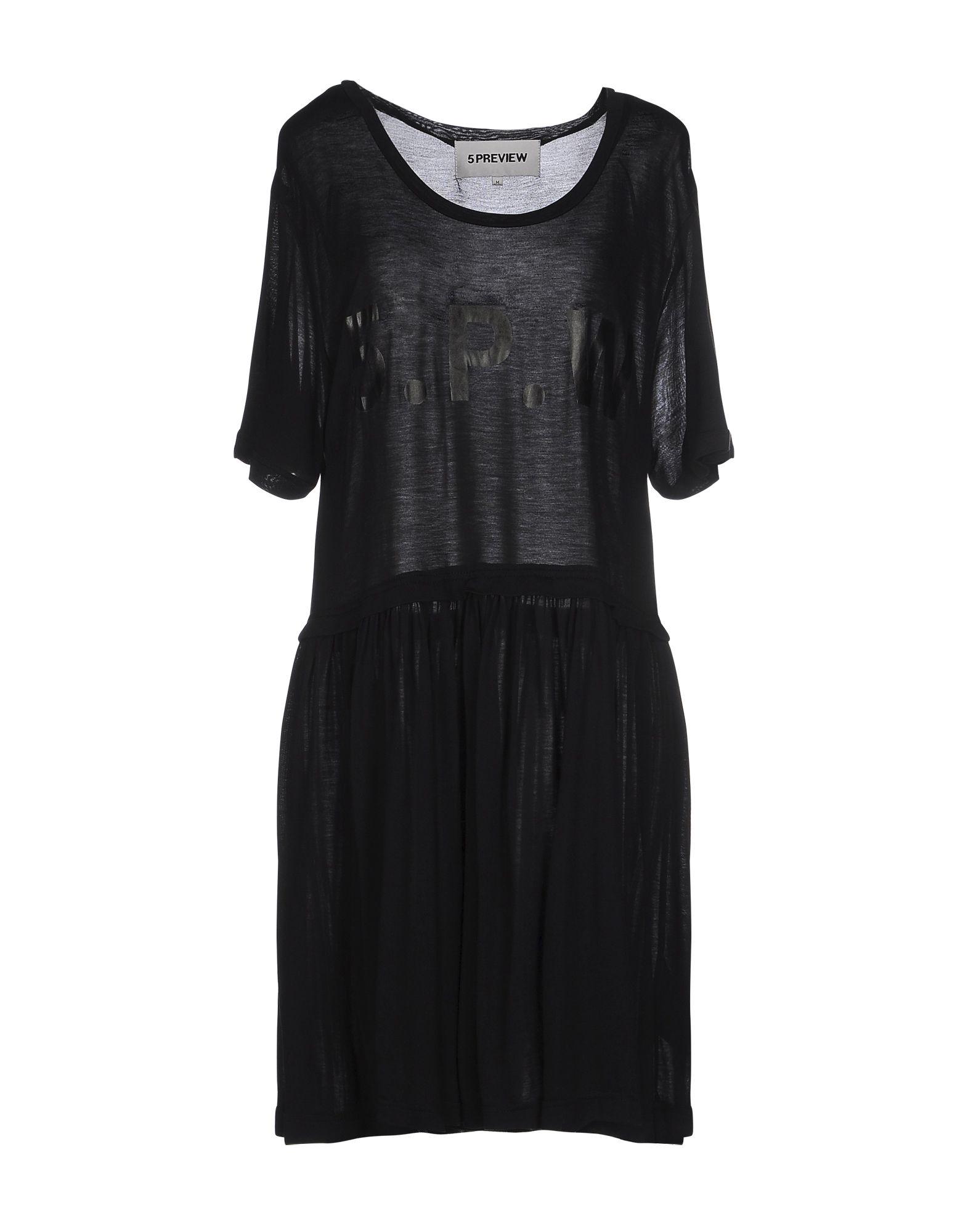 5PREVIEW Damen Kurzes Kleid Farbe Schwarz Größe 5