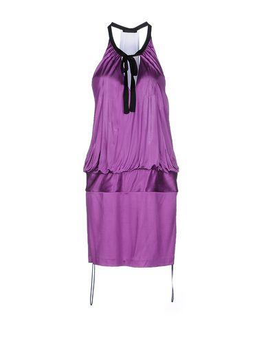 Фото - Женское короткое платье PINKO BLACK фиолетового цвета