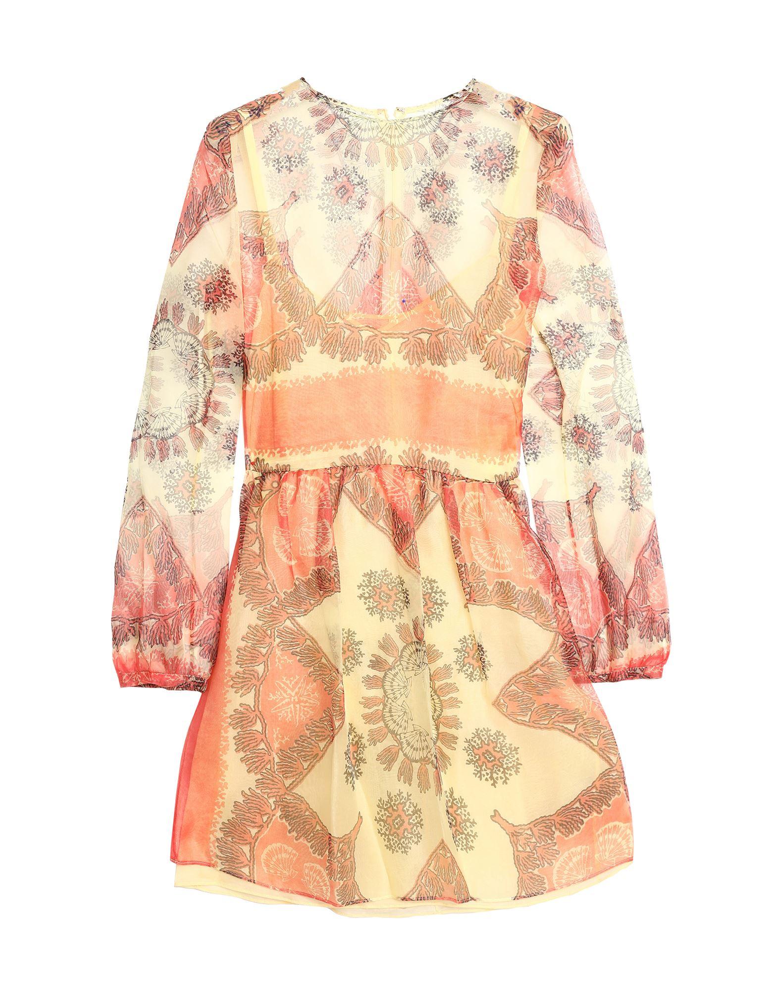 Короткое платье  - Светло-желтый цвет