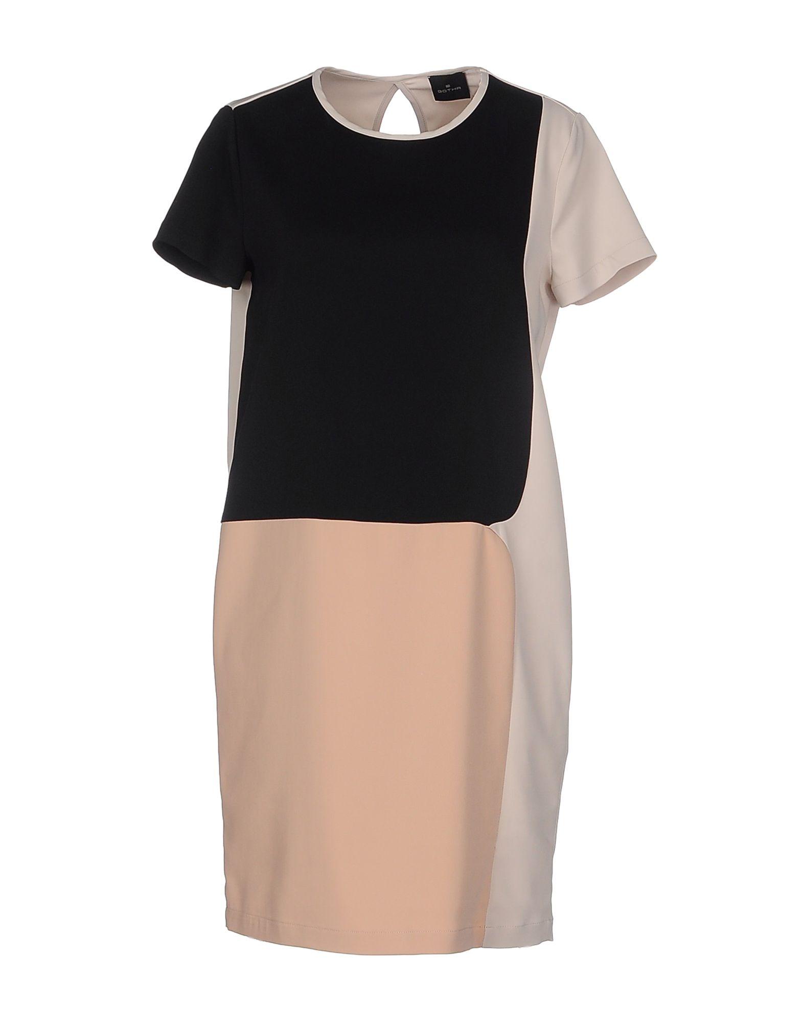 GOTHA Damen Kurzes Kleid Farbe Schwarz Größe 3