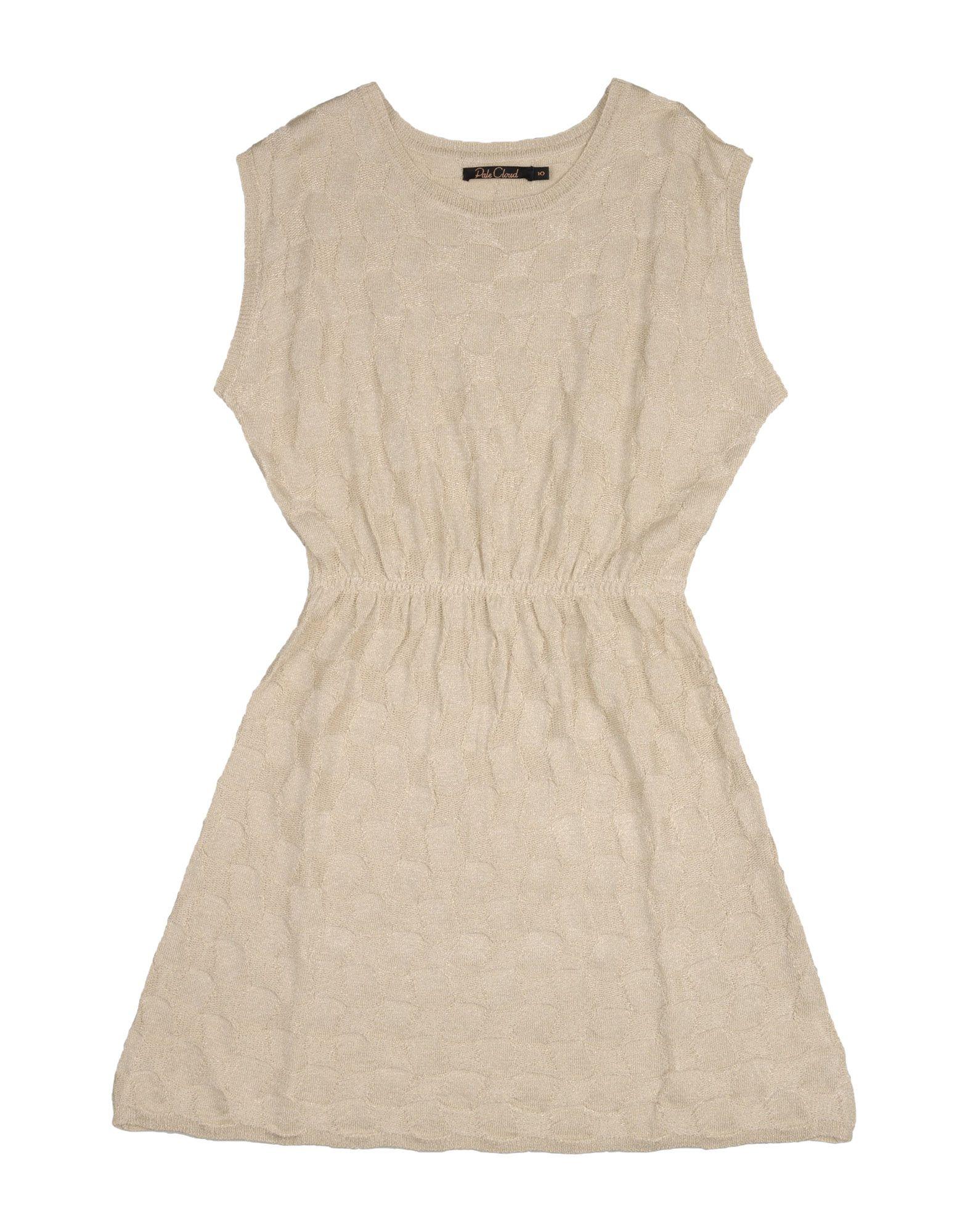 PALE CLOUD Mädchen 9-16 jahre Kleid Farbe Beige Größe 4