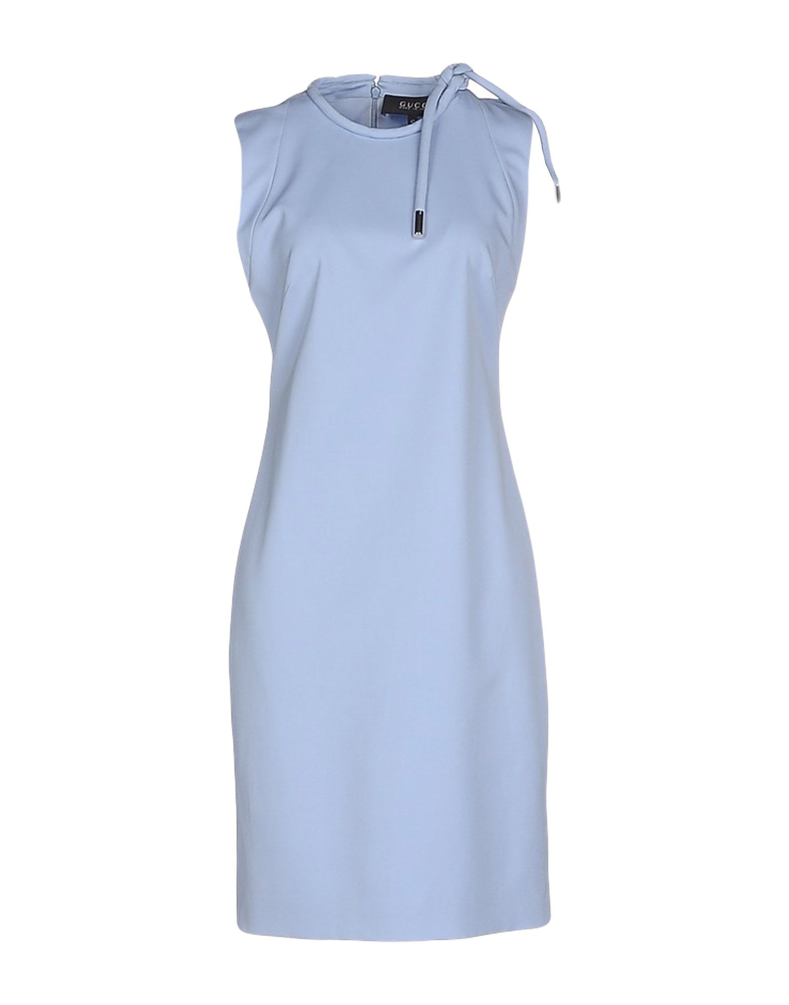GUCCI Damen Knielanges Kleid Farbe Himmelblau Größe 4