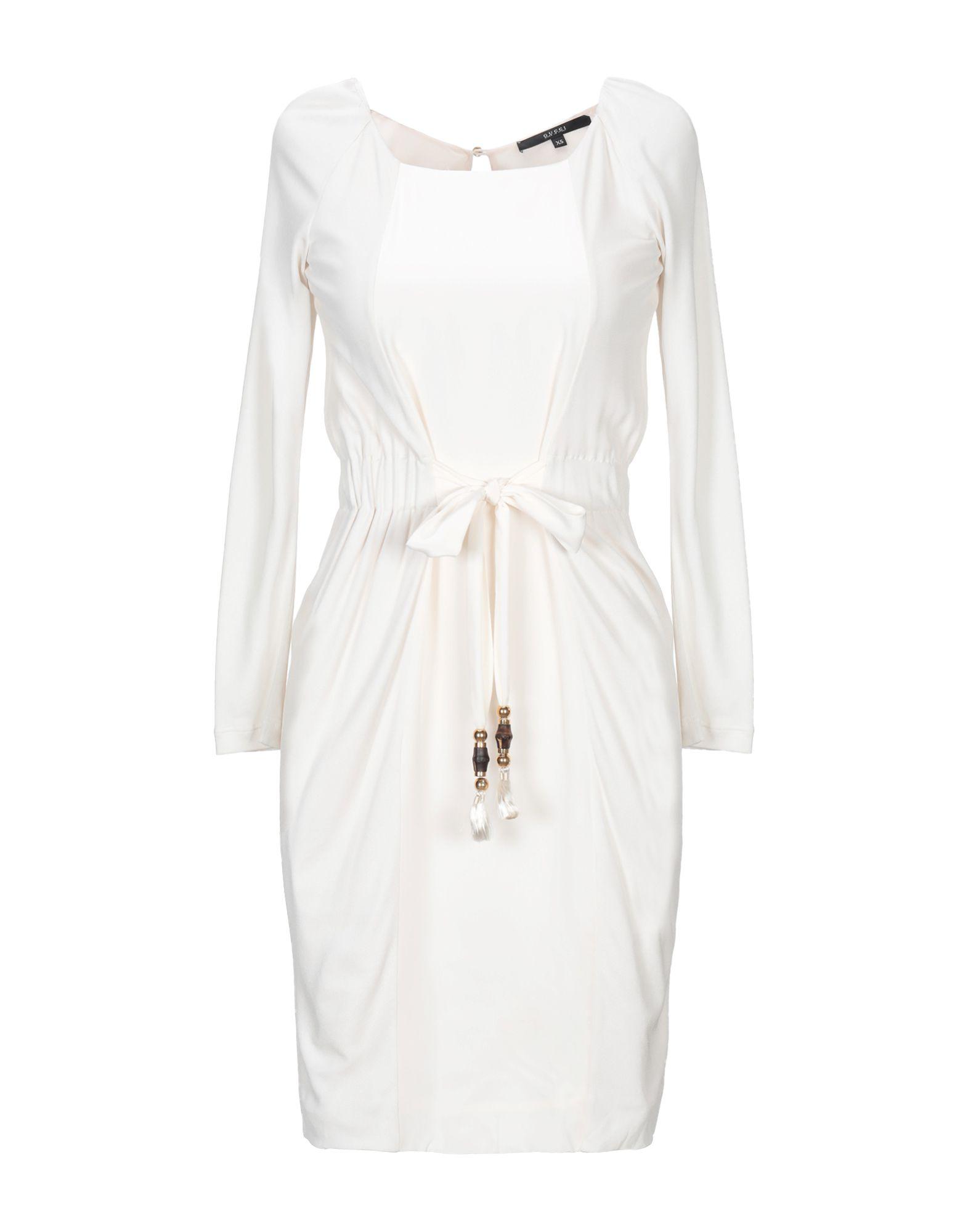 GUCCI Damen Kurzes Kleid Farbe Weiß Größe 3
