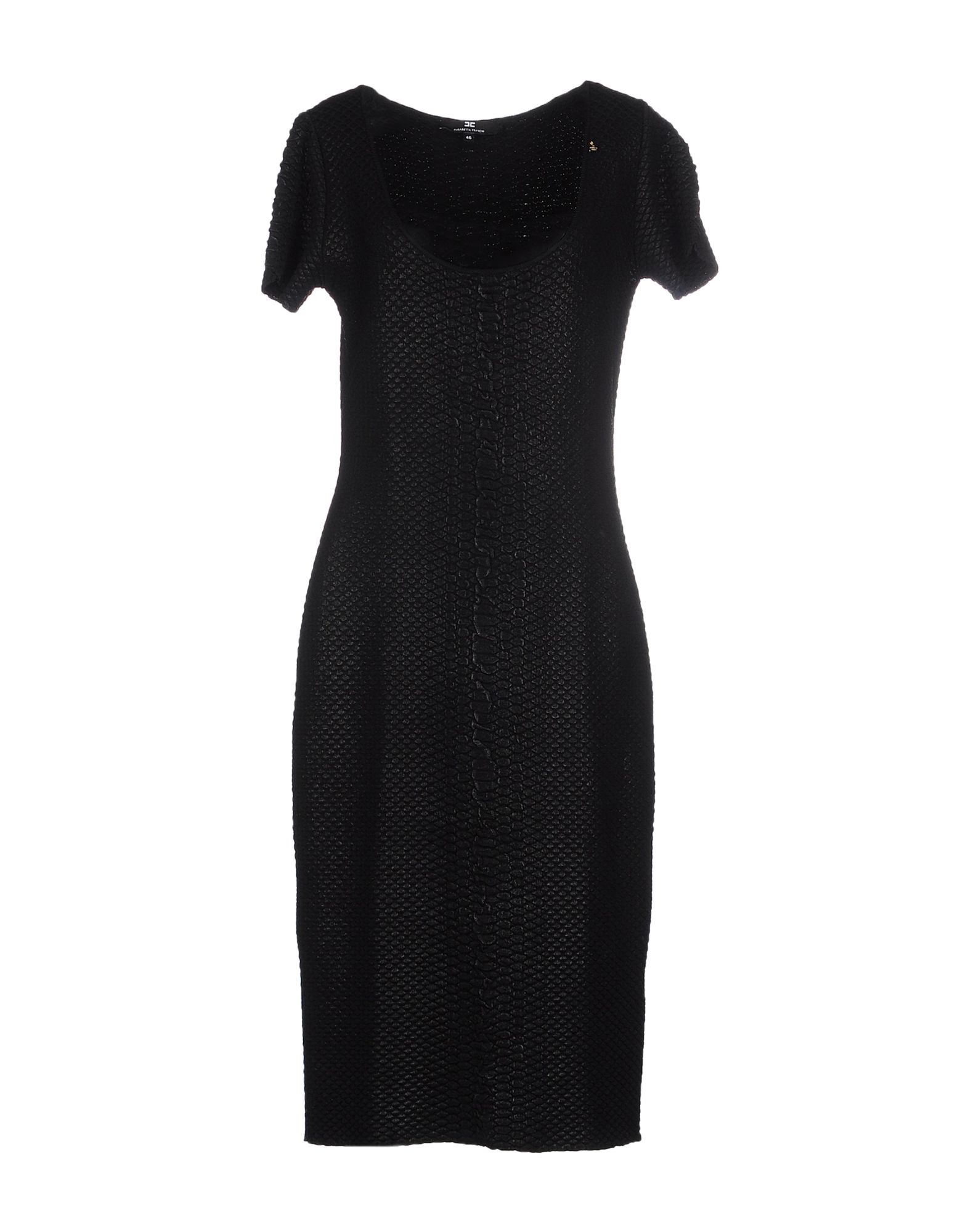 ELISABETTA FRANCHI Платье до колена elisabetta franchi черное асимметричное платье