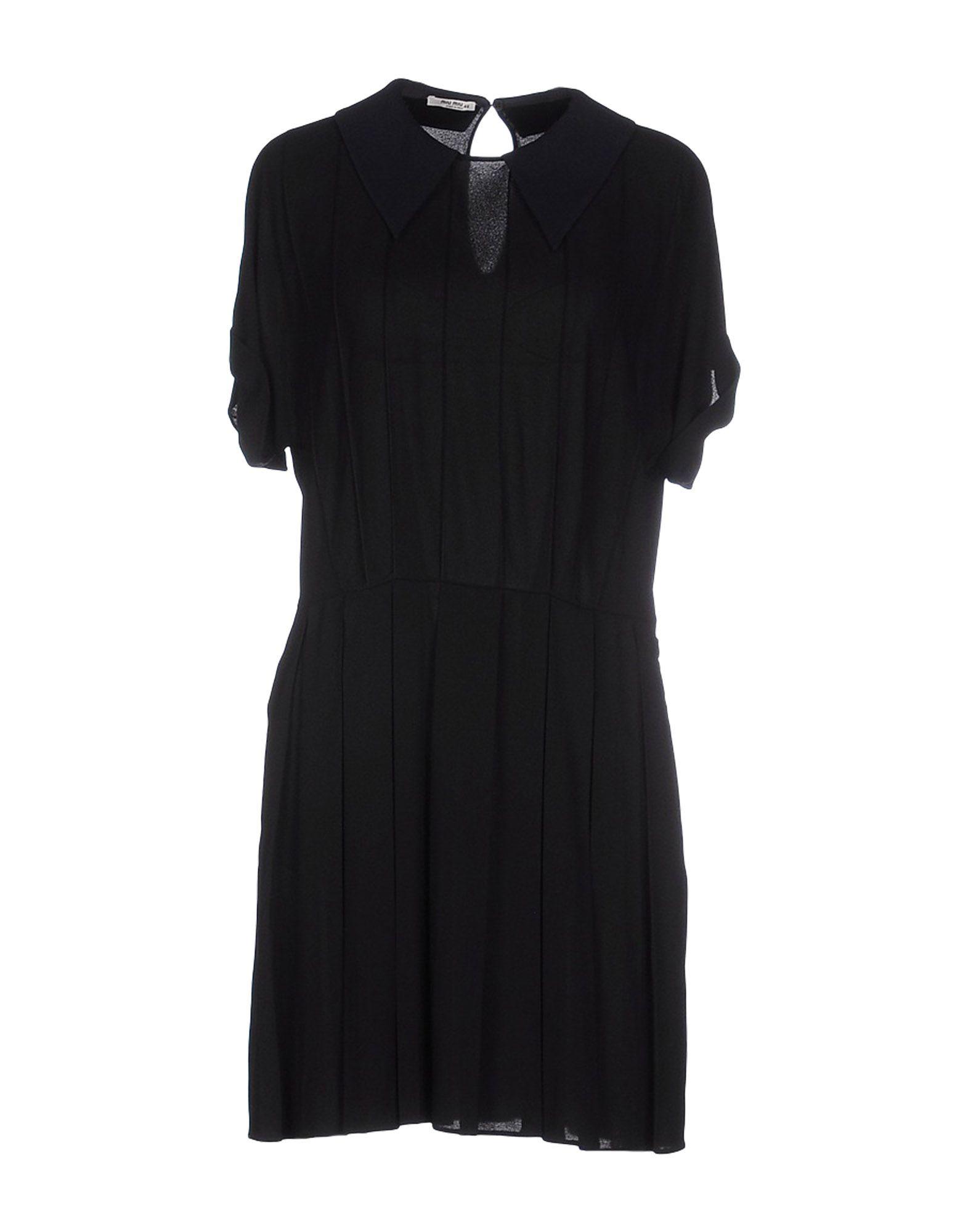 MIU MIU Короткое платье miu miu бархатное платье