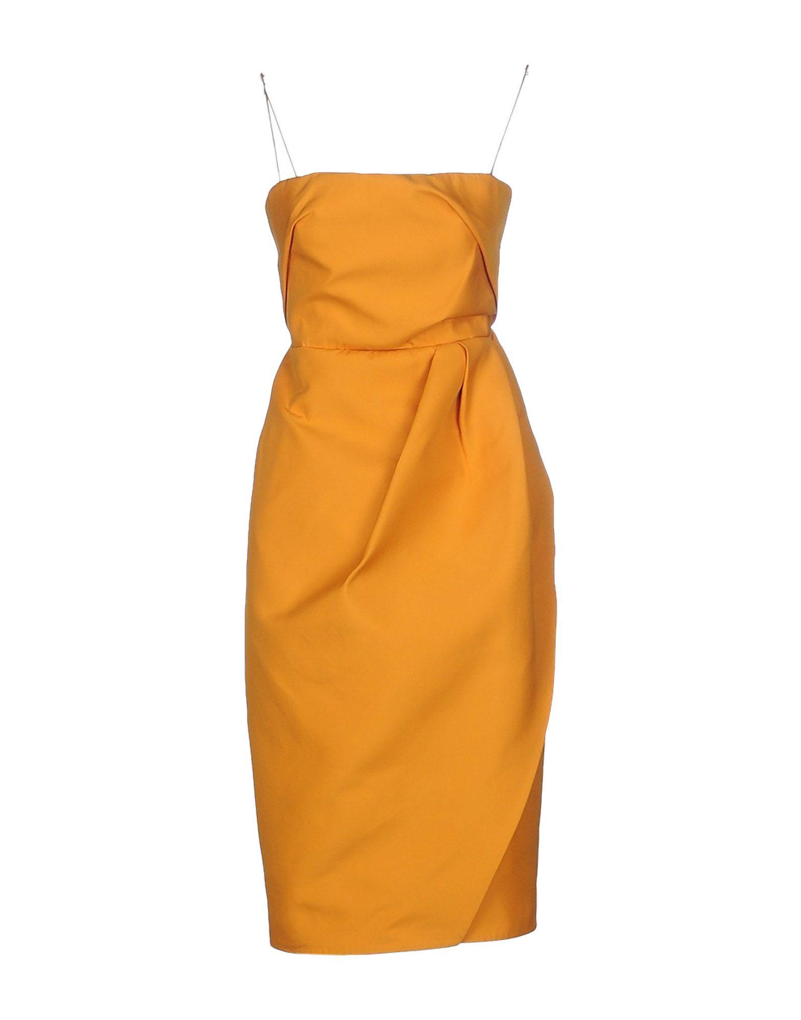 Платье до колена  Желтый цвета