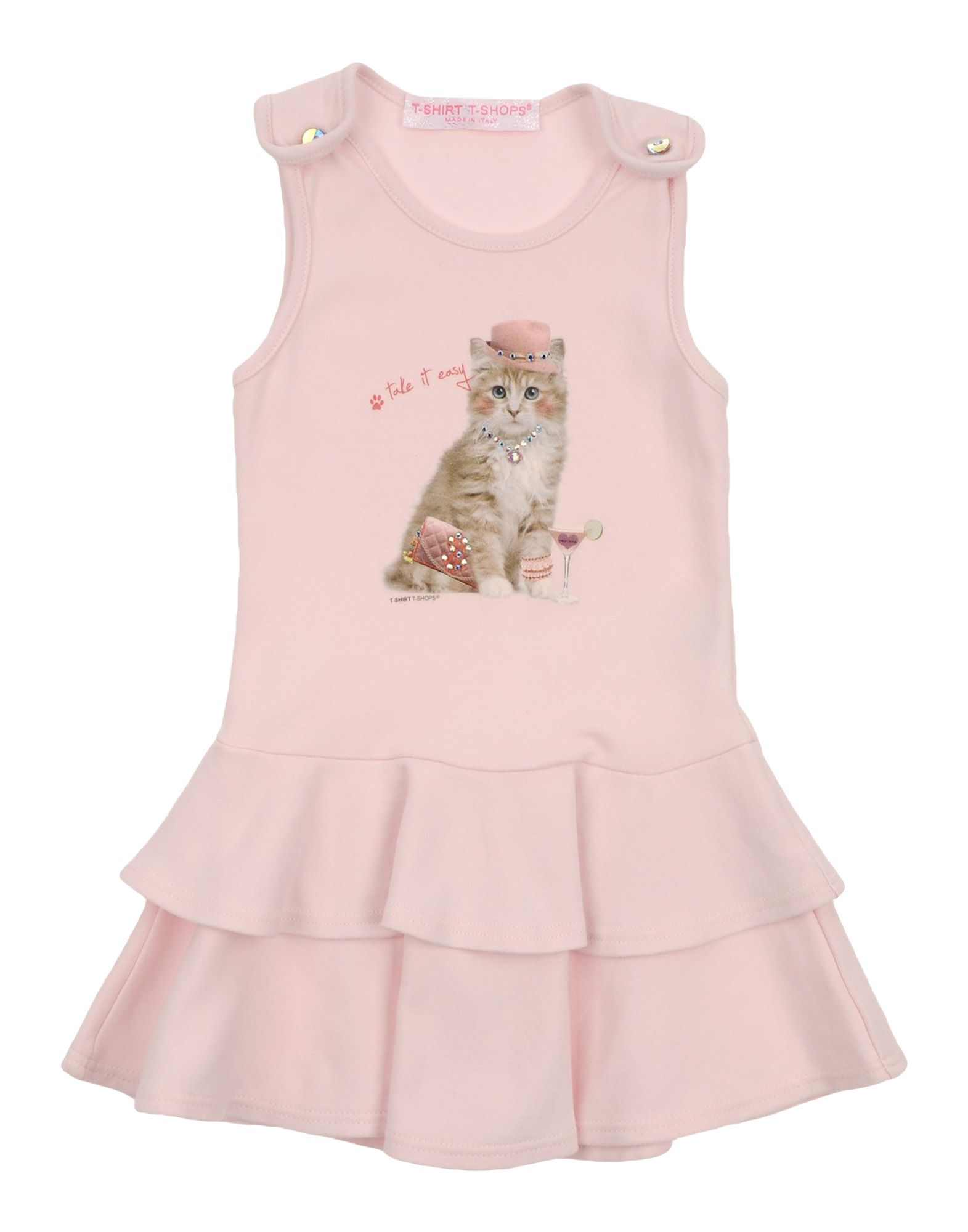 T-SHIRT T-SHOPS Mädchen 0-24 monate Kleid Farbe Hellrosa Größe 4