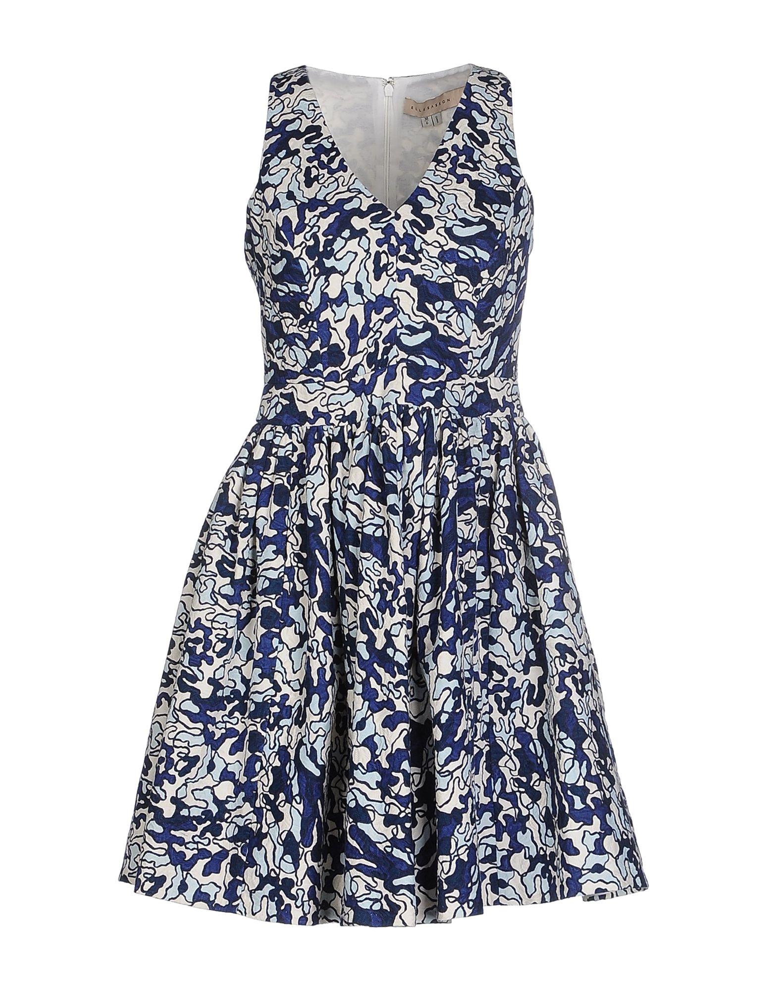 ELLE SASSON Короткое платье elle sasson джинсовая верхняя одежда