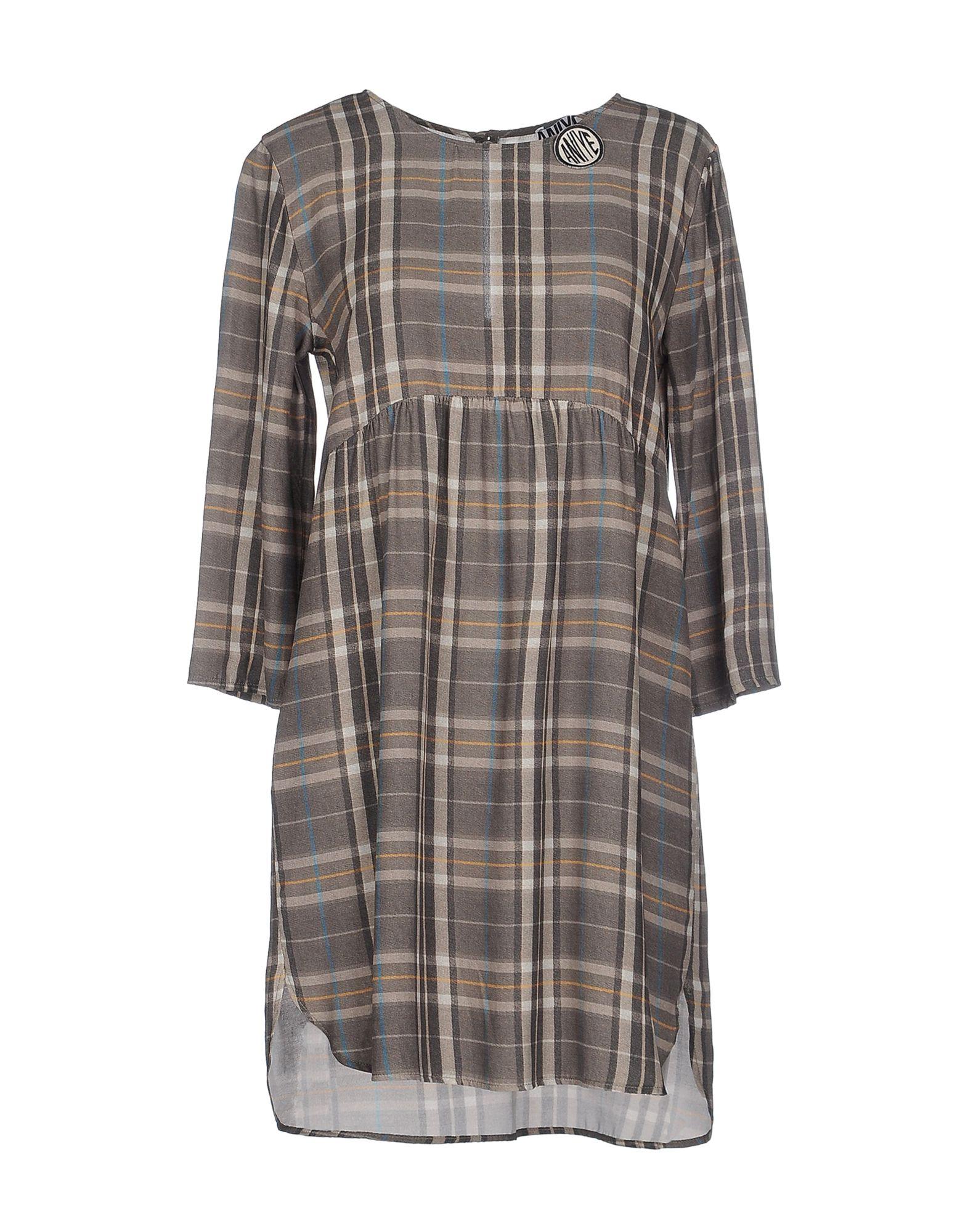 ANIYE BY Damen Kurzes Kleid Farbe Grau Größe 4