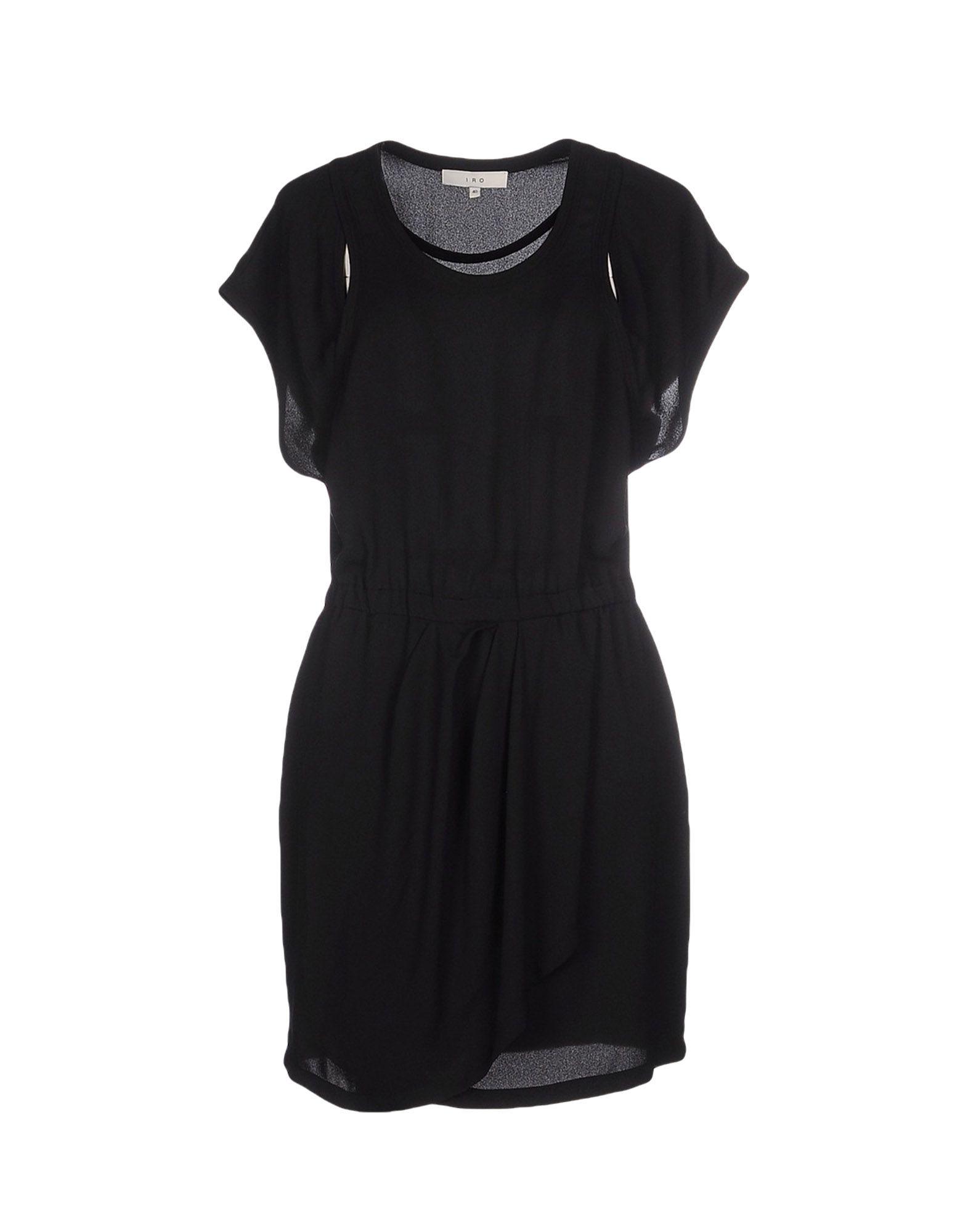 IRO Damen Kurzes Kleid Farbe Schwarz Größe 5