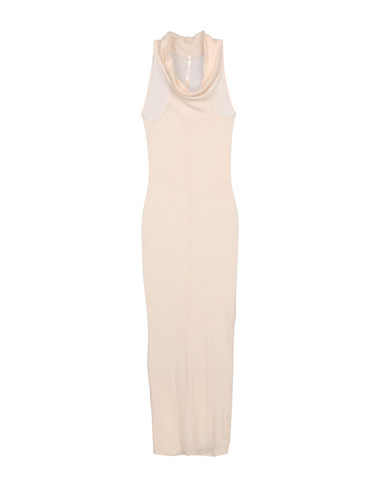 ISABEL BENENATO Damen Langes Kleid Farbe Beige Größe 4