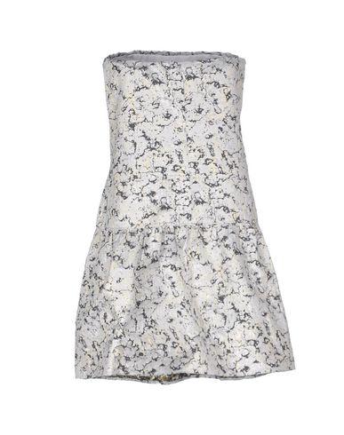 Фото 2 - Женское короткое платье PINKO BLACK белого цвета