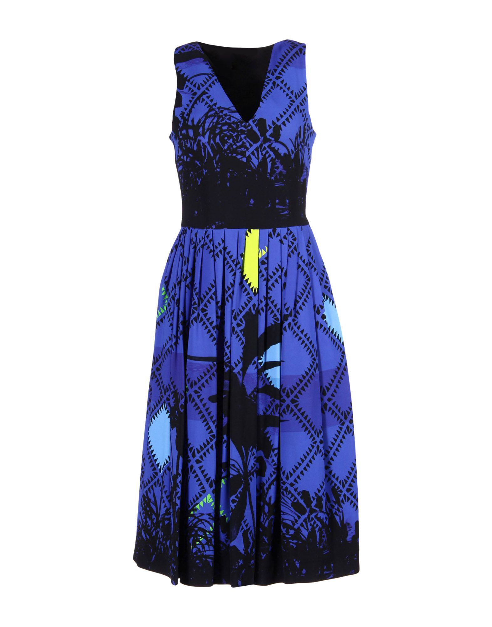 PREEN Knee-Length Dress in Bright Blue