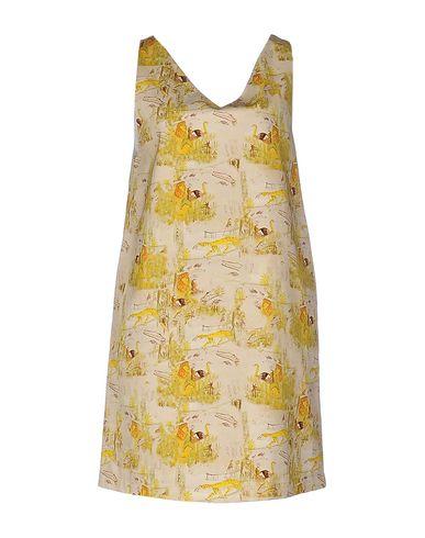 Фото - Женское короткое платье DOUUOD бежевого цвета