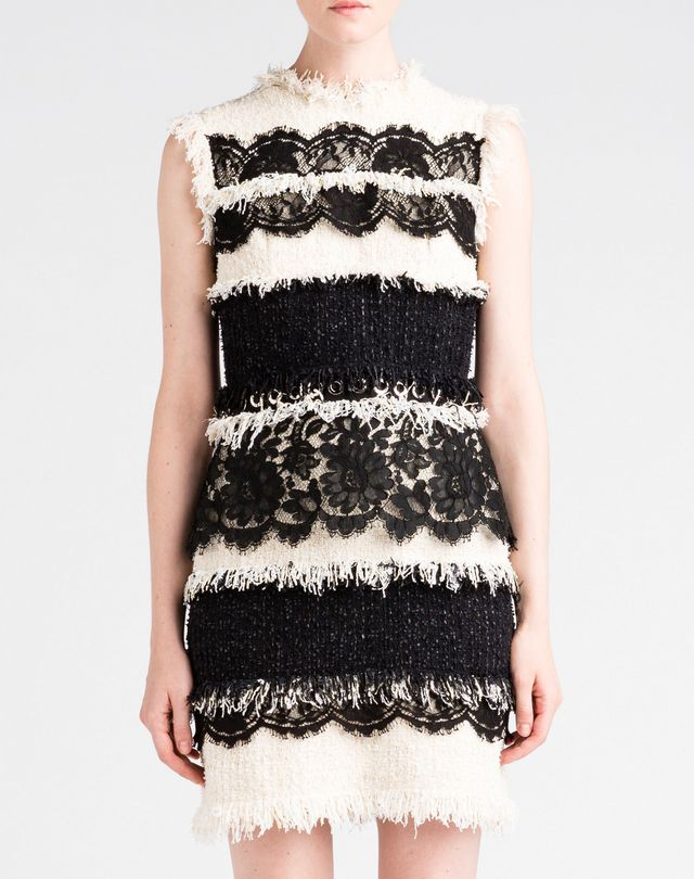 Lanvin Lace And Tweed Dress Women Online