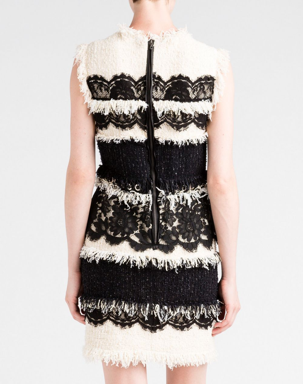 Lace And Tweed Dress Lanvin