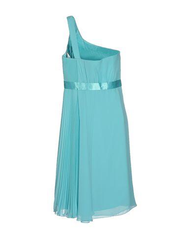 Фото 2 - Платье до колена бирюзового цвета