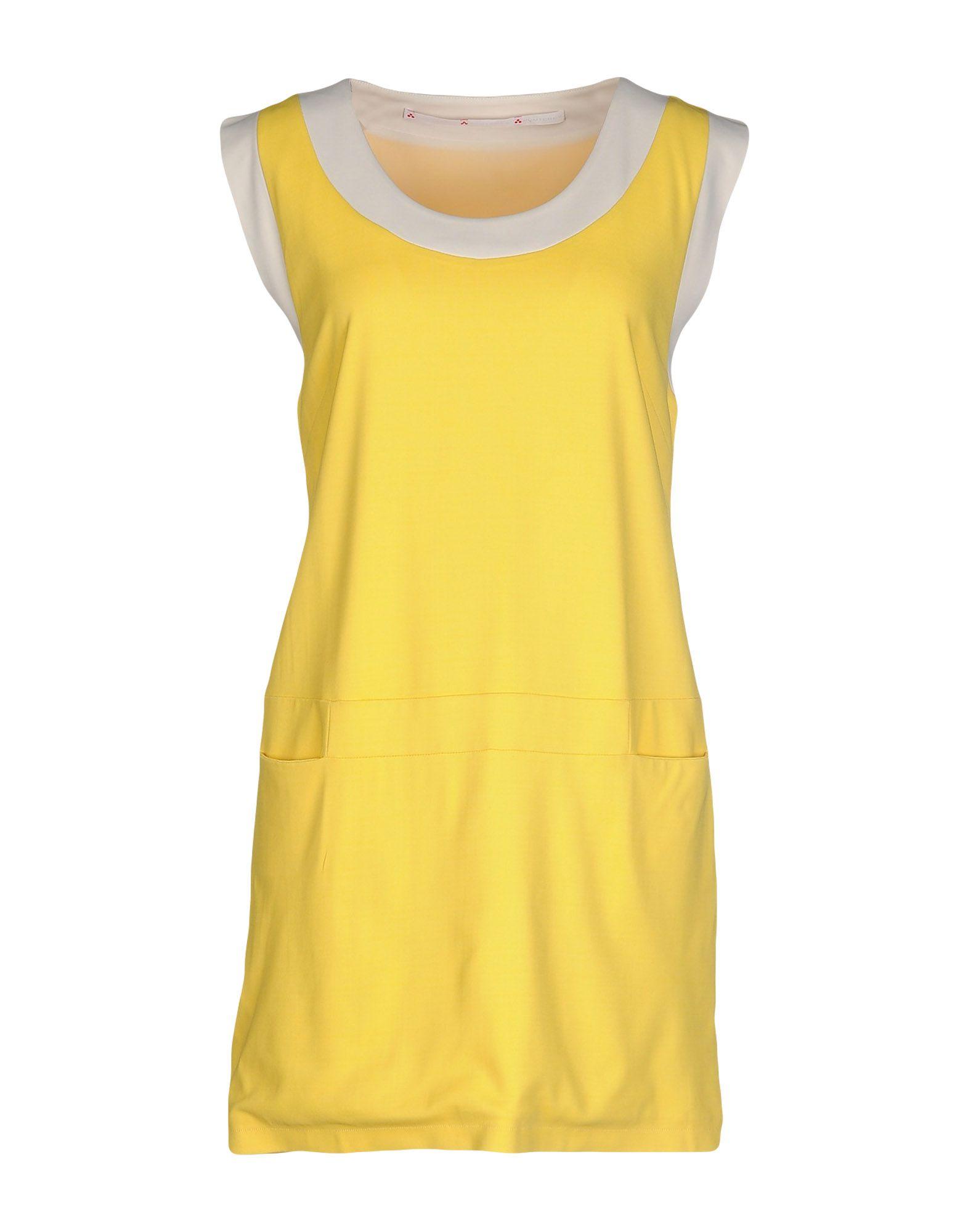 PEUTEREY Damen Kurzes Kleid Farbe Gelb Größe 4