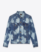 SAINT LAURENT Casual Jackets U Oversized Destroyed Jean Jacket in Blue Punk Denim f