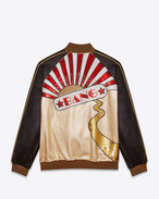 """BANG"" TEDDY Jacket in Gold, Black, Red and White Leather"