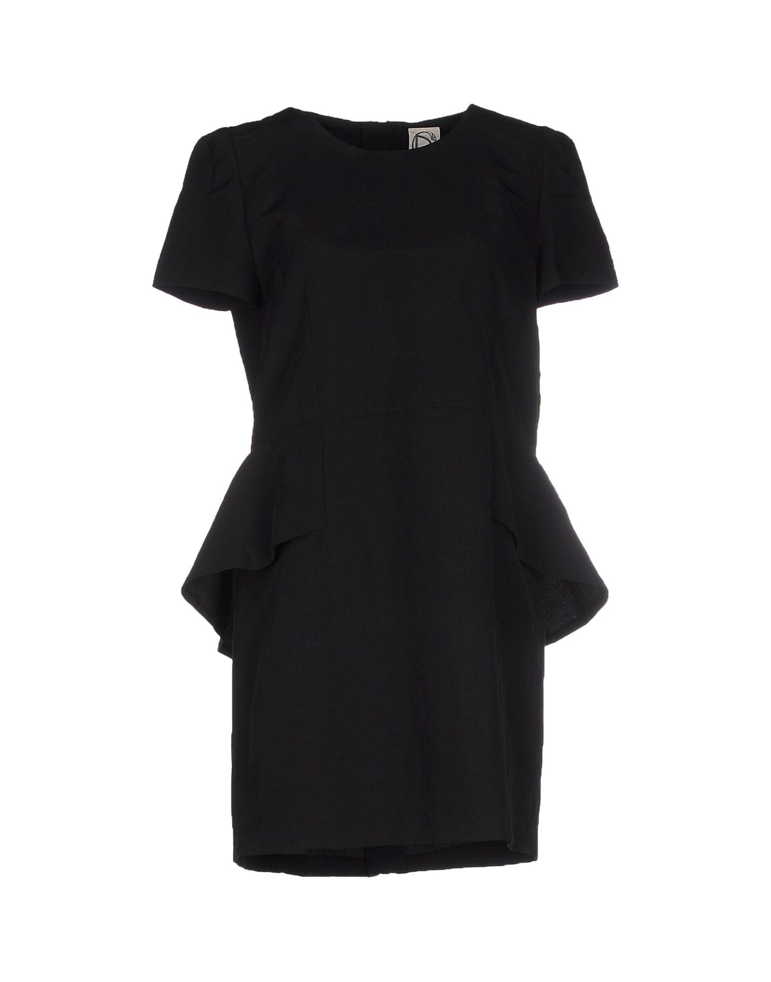 DRESS GALLERY Damen Kurzes Kleid Farbe Schwarz Größe 5