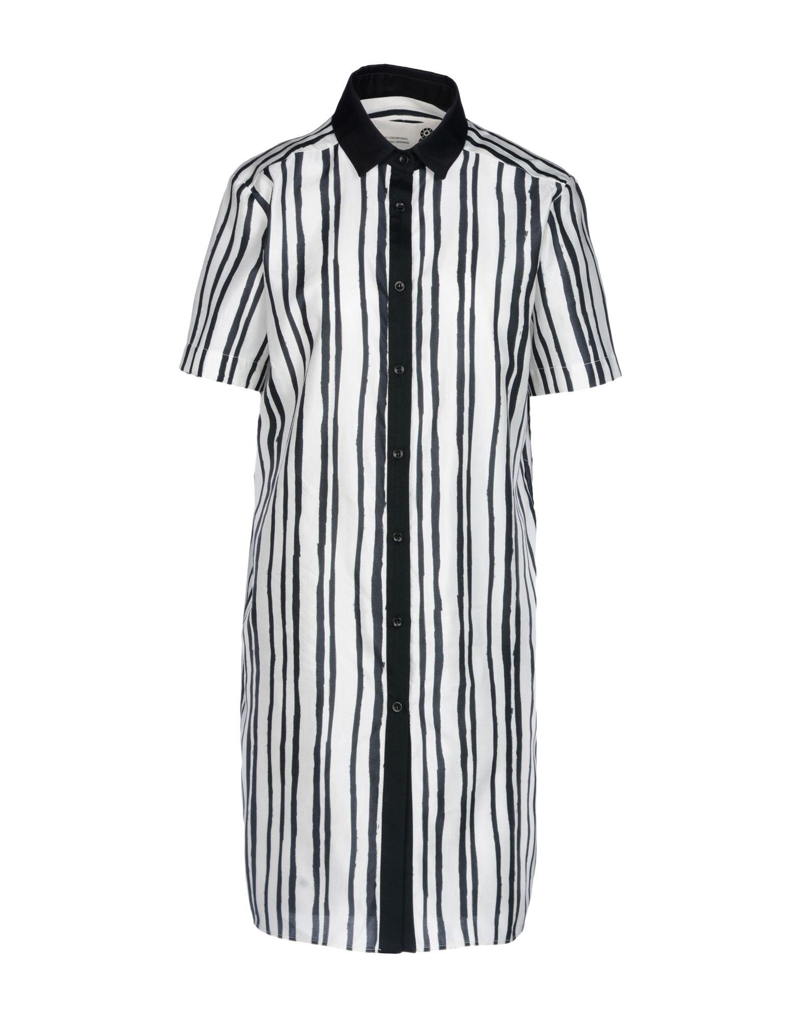 8 Короткое платье платье рубашка в полоску dynastie
