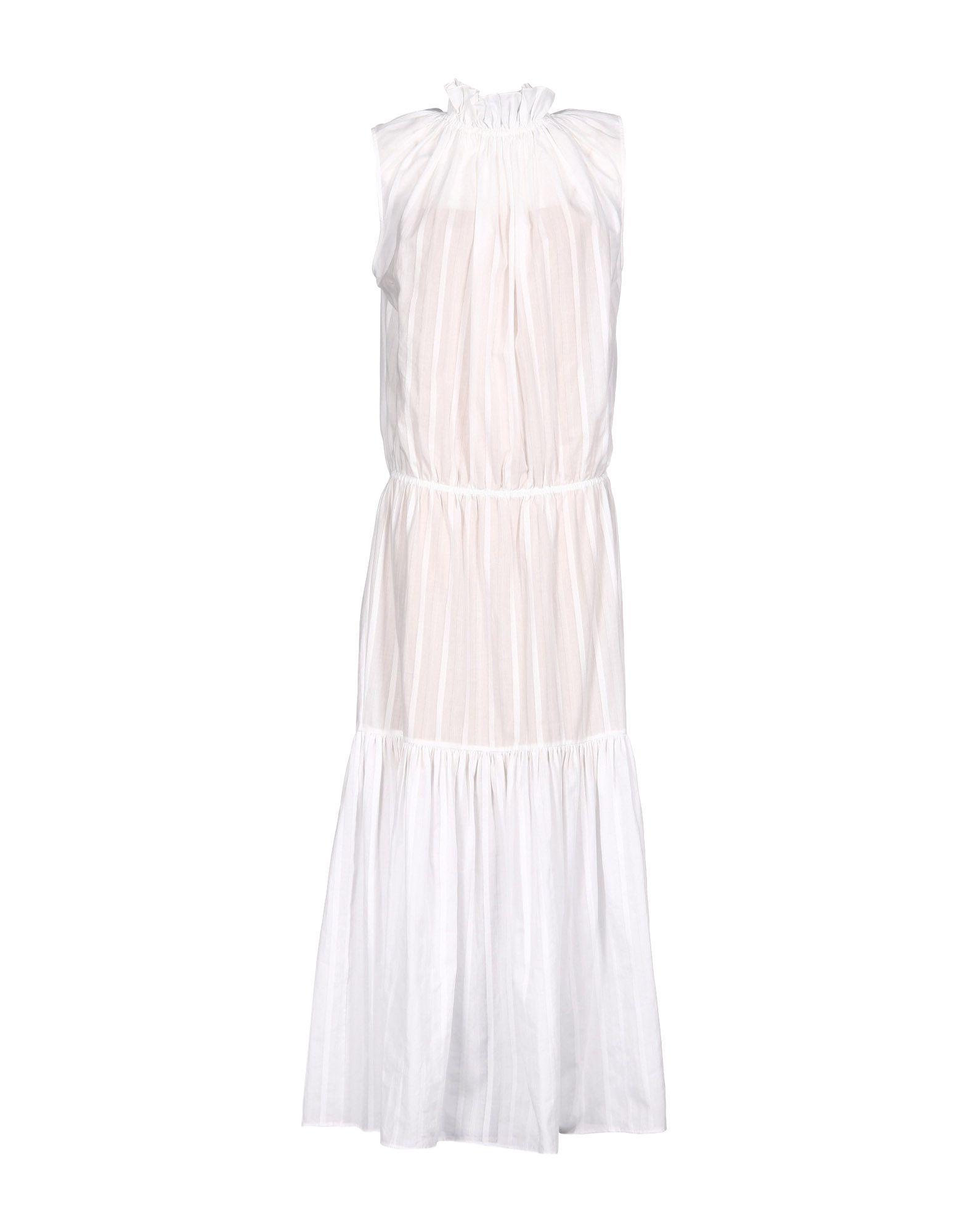 《送料無料》STELLA McCARTNEY レディース ロングワンピース&ドレス ホワイト 46 コットン 100%