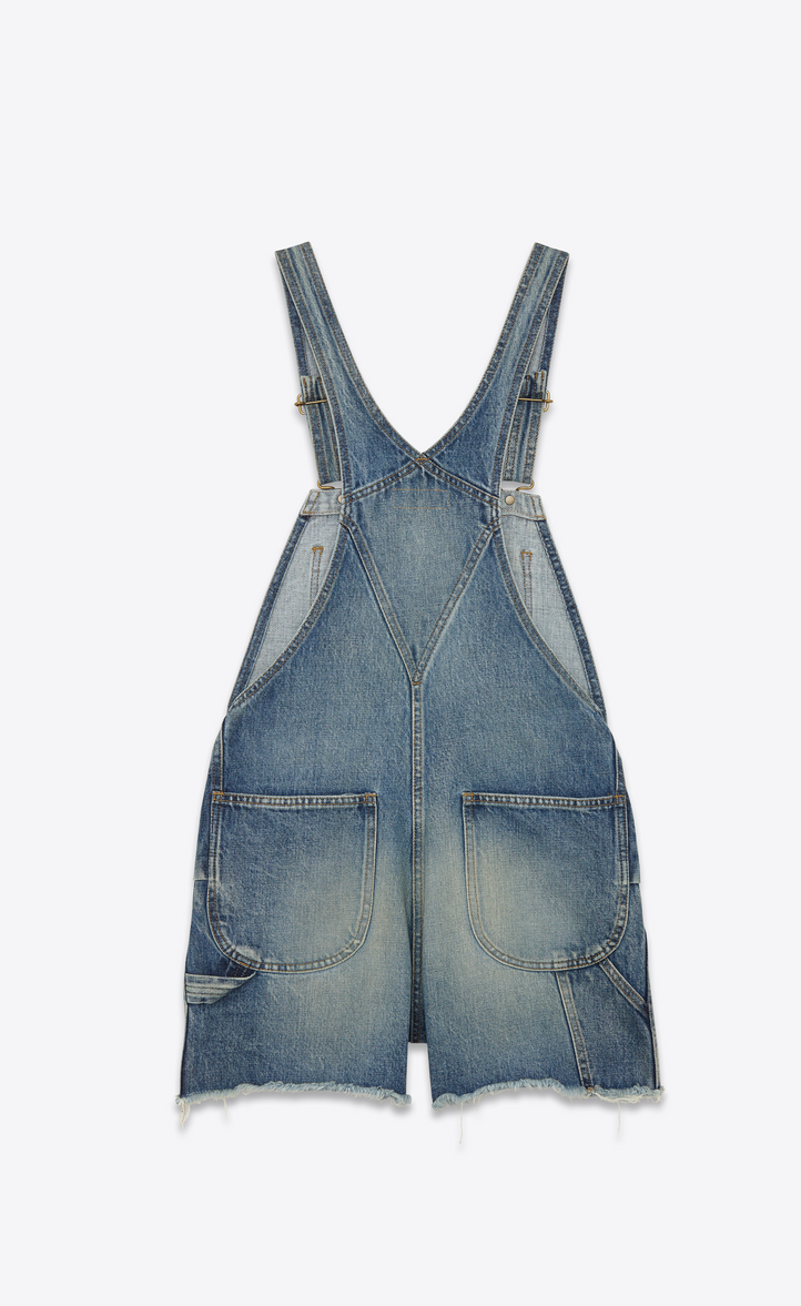 4b0f7d628d0bc Zoom  Original Short Overalls in 90 s Medium Washed Blue Classic Used Denim