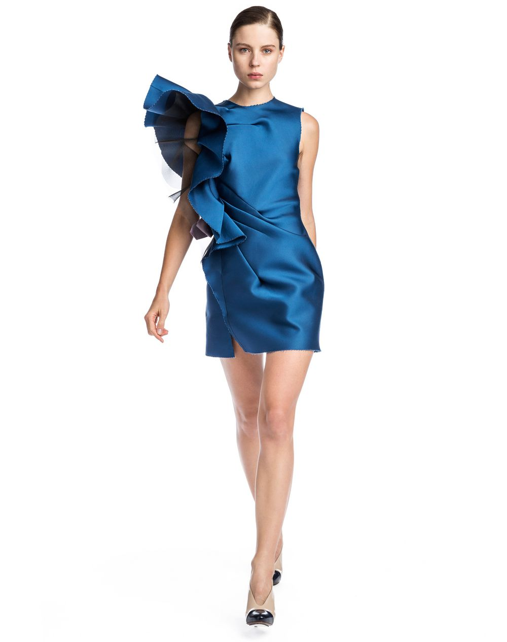 Straight Dress In Technical Ss Satin